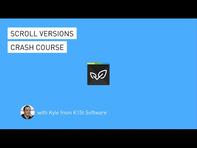 Scroll Versions Crash Course Version Management For Documentation In Confluence