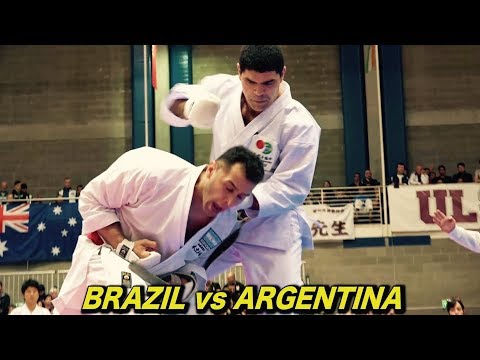 空手世界大会!ブラジルVSアルゼンチンが熱い!Brazil vs Argentina, 2017 Karate World Tournament JKA