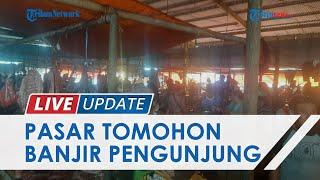 Jelang Perayaan Pengucapan Syukur, Pasar Beriman Tomohon Diserbu Warga Tomohon hingga Manado