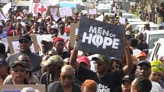 Hundreds gathered to protest against gender based violence