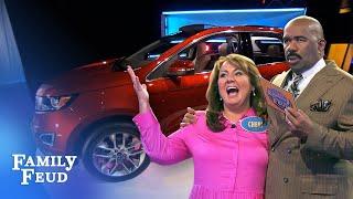Car Stars: Erekson Family 🚗⭐️ | Family Feud - dooclip.me