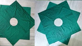 HANKY CUT SKIRT CUTTING AND STITCHING IN HINDI   / BABY SKIRT MAKING  / SKIRT DIY