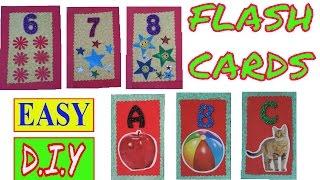 FLASH CARDS   ALPHABET FLASH CARDS   NUMBER FLASH CARDS   HOW TO MAKE FLASH CARDS   DIY FLASH CARDS