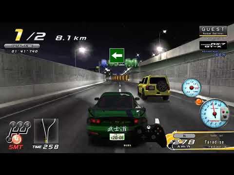 Wangan Midnight Maximum Tune 5 Emulated on TeknoParrot