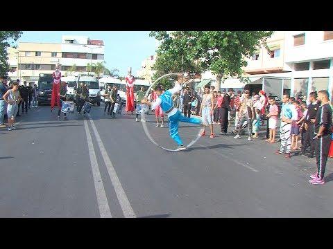 العرب اليوم - شاهد: فنون السيرك تعبر شوارع الرباط وسلا ضمن