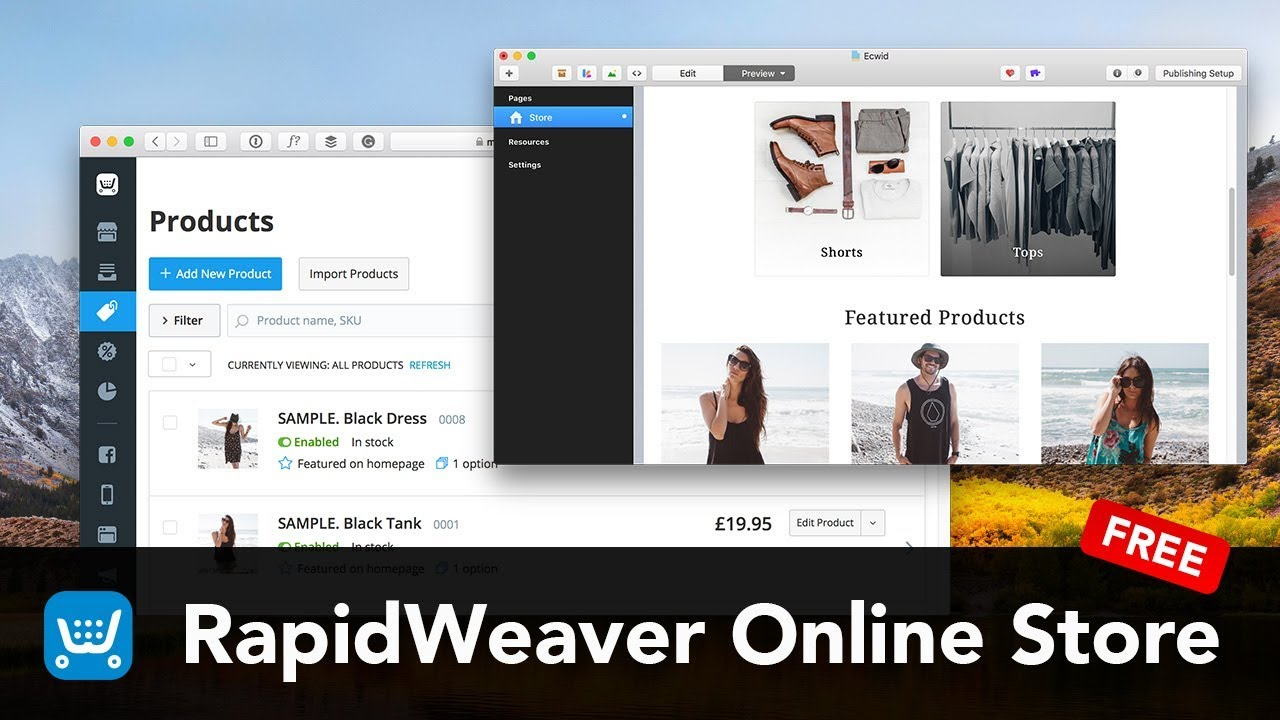 Start Selling online with RapidWeaver and Ecwid