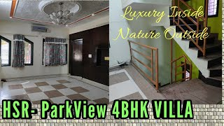 Corner Park Facing 4BHK Bungalow in HSR Layout For Sale