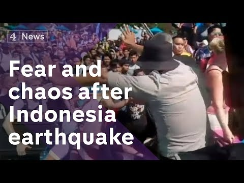 Indonesia Earthquake: Chaos As Tens Of Thousands Flee, With Almost 100 Dead