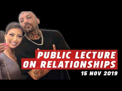 Public lecture on relationships 15 nov 2019