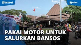 Alumni AKABRI Tahun 1996 Salurkan Ribuan Paket Bansos untuk Masyarakat di Solo Pakai Sepeda Motor