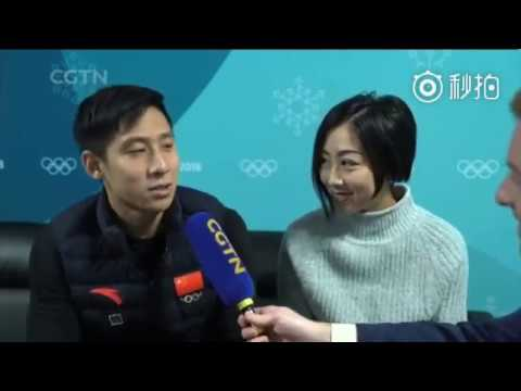 Wenjing Sui Cong Han CGTN English Interview after Olympics