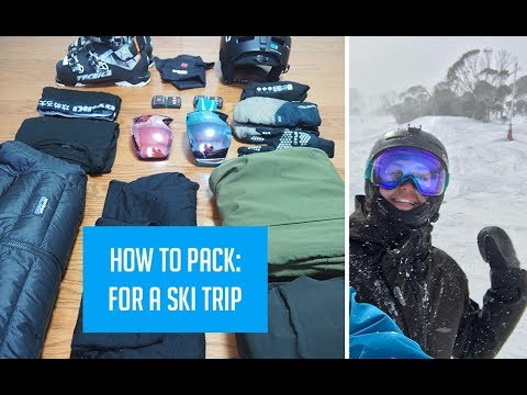 What I pack for a Ski Trip! | Minimalist Packing for Skiiers