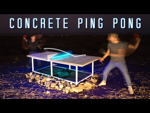 Making a Ping Pong Table with Concrete