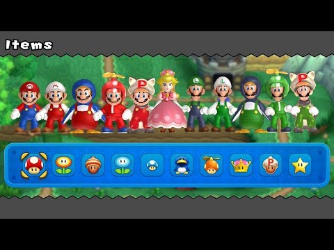 New Super Mario Bros U Deluxe All Power Ups 2 Players | MP3