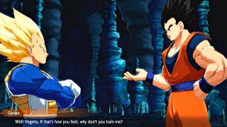 Dragon Ball FighterZ - Vegeta Roasts Gohan About His Poor Training