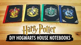 Harry Potter DIY Hogwarts House Notebooks   Sea Lemon