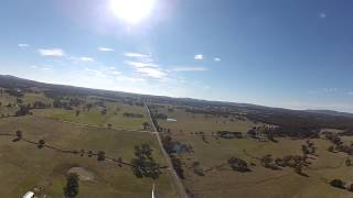 FPV Flight 2km Back Home Real Time FPV GoPro Footage - Not too exciting - HK Bixler Glider