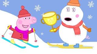 Peppa und ihre Freunde lernen Skifahren ❄️ Cartoons für Kinder   Peppa Wutz Neue Folgen