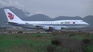 preview picture of video 'Boeing 747-4J6 Air China take off at Pisa(LIRP).'