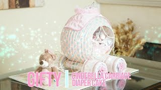 Cinderella Princess Carriage Diaper Cake...