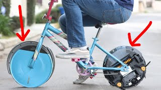A Bike But The Wheels Are Roombas