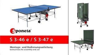 Sponeta S 3-46 e / S 3-47 e - Montageanleitung Tischtennistisch / Instructions for assembly and use
