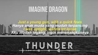 THUNDER Imagine Dragon   [Lyric Video Dan Terjemahan Indonesia]