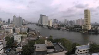 2015-05-08 Timelapse - Day into Night, Chao Phraya River, Bangkok