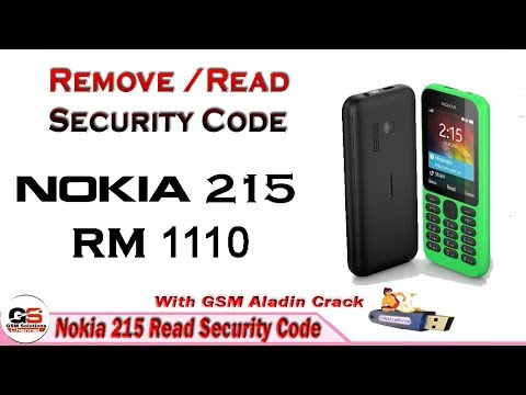 Nokia 215 rm-1110 Rest User Code / Unlock Without Losing