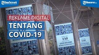 Reklame Digital Tentang Covid-19 Kawasan Blok M