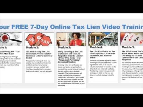 Free Tax Lien Investing Course By The US Tax Lien Association ...