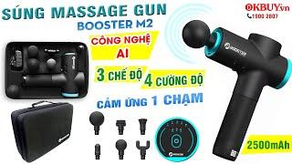 Video súng massage cầm tay công nghệ Ai Booster M2 - 3 chế độ mát xa