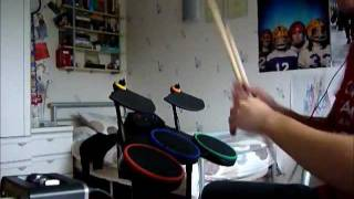 Guitar Hero PS3 drums used as electronic drumkit!