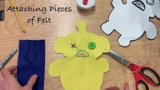 6 Felt Monster Part 4