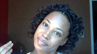 BANTU KNOTS ON RELAXED HAIR(FIRST ATTEMPT)