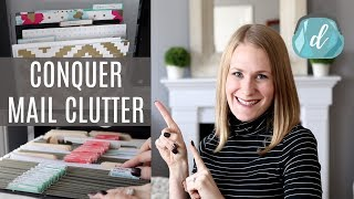 The SECRET organized mail & receipts! (NO MORE CLUTTER!)