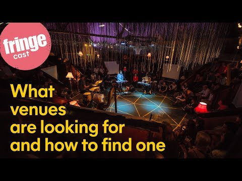 #FringeCast 2020 - ep3 - What venues are looking for and how to find one - Tue 19 Nov@17:00 UK time
