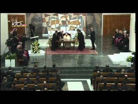 Visite du Pape au Séminaire pontifical romain