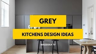 60+ Awesome Grey Kitchens Design Ideas 2018