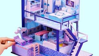 DIY Miniature Dollhouses ~ Frozen Disney Elsa Anna Dollhouse ~ Full House