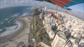 preview picture of video 'Tal Kravitz hang-glides at Netanya, March 20 2015'