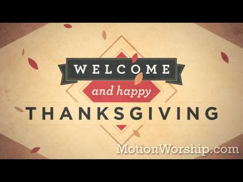 Weathered Diamonds Happy Thanksgiving HD Looping Background by Motion Worship