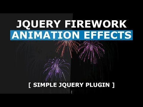 jQuery firework animation effects using fireworks.js - Simple jQuery Plugin
