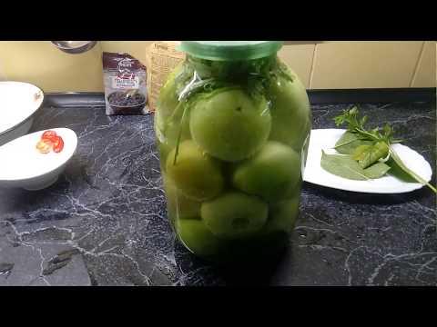 Как засолить зелёные помидоры на зиму!!!