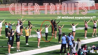 I tried out for my high school's cheer team with ZERO experience