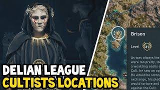 Assassin's Creed Odyssey - All DELIAN LEAGUE CULTIST Location Walkthrough