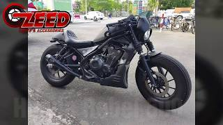Honda Rebel CMX 500 Custom Diablo Motozaa Parts Exhaust Review