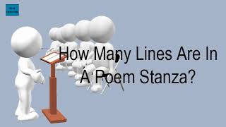 How Many Lines Are In A Poem Stanza?