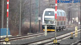 preview picture of video 'ČD 471.032 a 680.006 - Praha-Běchovice, 11.2.2011'