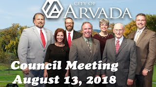 Preview image of City Council Meeting - August 13, 2018